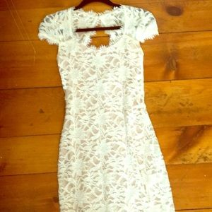 Dresses - Lacy Keyhole Special Occasion Dress